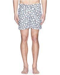 Orlebar Brown 'Bulldog' Coral Print Mid-Length Swim Shorts - Lyst