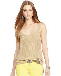 Polo Ralph Lauren Knit Linen Scoopneck Tank - Lyst