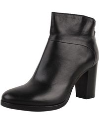 Progetto Platform Leather Bootie - Lyst
