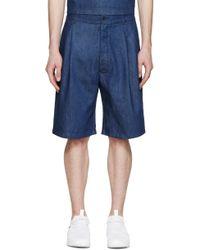 Sunnei - Indigo Denim Shorts - Lyst