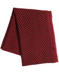 The Kooples - Herringbone Wool & Cotton Scarf - Lyst