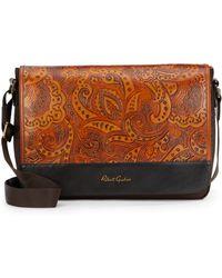 Robert Graham Vidal Nylon & Paisley-Embossed Leather Messenger Bag - Lyst