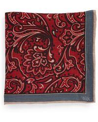 W.r.k. Floral Linen Pocket Square - Lyst
