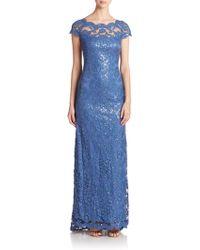 Tadashi Shoji | Embroidered Sequin Gown | Lyst
