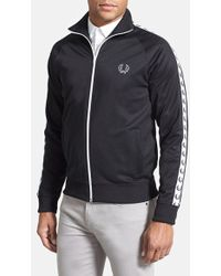Fred Perry Laurel Tape Track Jacket black - Lyst