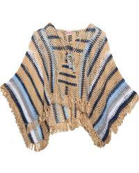 Anna Kosturova - Baja Hooded Crochet Poncho - Lyst