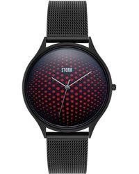 Storm - Men's Black 'cobra X' Analogue Bracelet Mesh Watch 47427/sl - Lyst