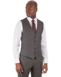 Racing Green - Charcoal Pick And Pick Waistcoat - Lyst