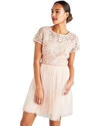 6df93ed07c6 Yumi' Broderie Sun Dress in White - Lyst