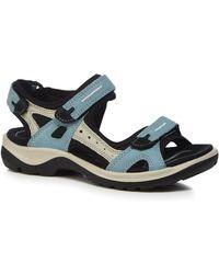 Ecco - Blue 'offroad' Sandals - Lyst