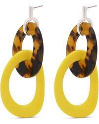 Pilgrim - Yellow Silver Plated 'belia' Drop Earrings - Lyst