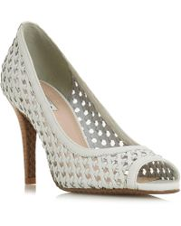 Dune - Carding Open Toe Woven Court Shoes - Lyst