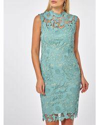 99af582ec5 Urban Outfitters Uo Demi Green Geo Print Button-through Slip Dress ...