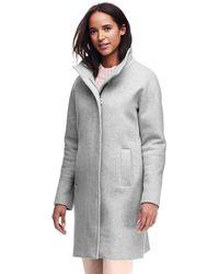 Lands' End - Grey Petite Wool Blend Coat - Lyst