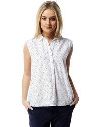 Craghoppers - Optic White Combo Esta Sleeveless Shirt - Lyst