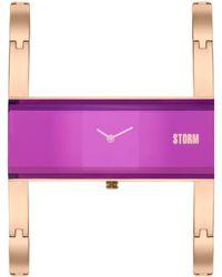 Storm - Ladies Purple Akiko Metal Strap Watch Akiko Rg Purple - Lyst