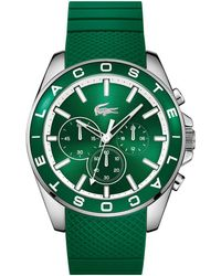 Lacoste - Men's Green 'westport' Watch 2010851 - Lyst