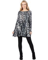 Izabel London - Grey Leopard Print Dress - Lyst