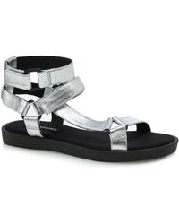 Call It Spring - Silver 'proresien' Ankle Strap Sandals - Lyst
