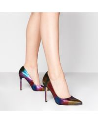 Faith 'chloe Disco' Stiletto Heel Court Shoes - Multicolour