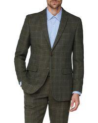 Racing Green Racing Heritage Tweed Tailored Fit Suit Jacket - Green