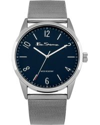 Ben Sherman - Men's Silver Analogue Bracelet Watch Bs153 - Lyst
