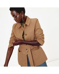 Oasis - Stone Belted Utility Jacket - Lyst