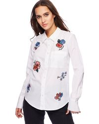 Red Herring - White Embroidered Shirt - Lyst