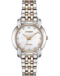 Citizen - Jolie Two-tone Diamond Watch - Lyst