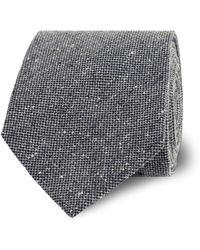Tm Lewin - Grey Textured Silk Tie - Lyst