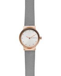 Skagen - Ladies Silver And 'freja' Analogue Mesh Bracelet Watch - Lyst