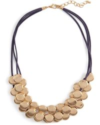 Phase Eight - Metallic Blair Multirow Cord And Disc Necklace - Lyst