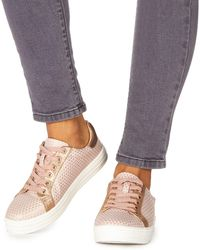 Faith - Pink 'kem' Lace Up Trainers - Lyst