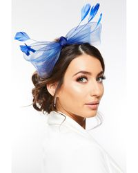 Quiz Bow Headband Fascinator - Blue