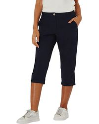 Dorothy Perkins - Navy Poplin Cropped Trousers - Lyst
