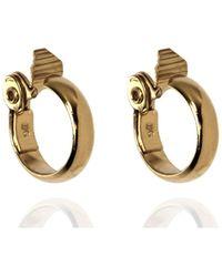 Anne Klein - Gold Tone Large Hoop Earrings - Lyst