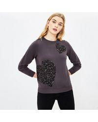Oasis Animal Heart Sweatshirt - Grey