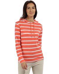 Regatta - Orange 'modesta' Striped Jersey Top - Lyst
