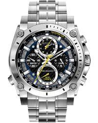 Bulova - Men's Stainless Steel Chronograph Bracelet Watch 96g175 - Lyst