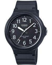 G-Shock - Unisex Core Black Analogue Watch Mw-240-1bvef - Lyst
