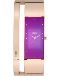 edf340a46 Storm - Ladies Rose Gold And Purple Alvara Watch - Lyst