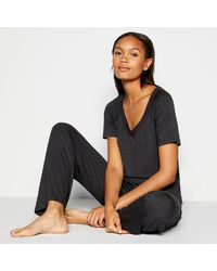 J By Jasper Conran 'hybrid' Plain Jersey Pyjama Set - Gray