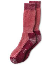 Lands' End - Red Snow Pack Boot Socks - Lyst