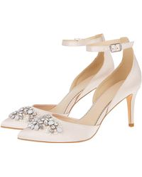 e583cf764 Monsoon - Pink  tabby  Two Part Jewelled Point Heels - Lyst