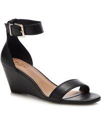 Call It Spring 'abaussa' Wedge Heel Sandals - Black