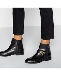 e5e5005aade Buckle Strap Leather 'broganie' Ankle Boots - Black