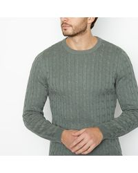 Racing Green Green Cable Knit Cotton Jumper