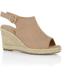 Oasis - Light Camel 'lucy' Wedges Sandals - Lyst