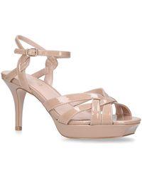 Miss Kg - Nude 'sam' Mid Heel Sandals - Lyst