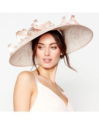 Jenny Packham - Light Pink Embellished Loop Downbrim Fascinator - Lyst